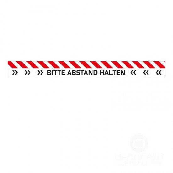 Abstand Wartemarkierung standard Fussbodenaufkleber