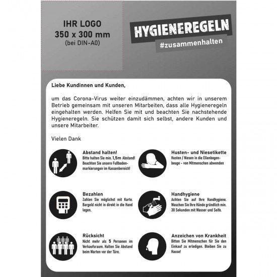 Hygiene Regeln - Poster/Aufkleber